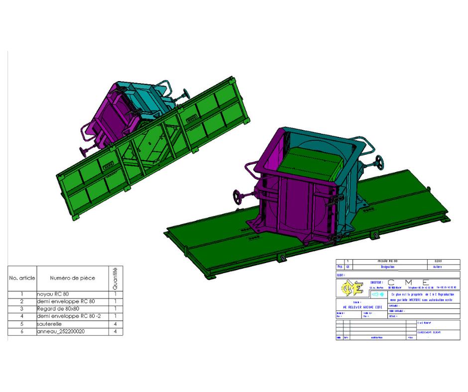 Modélisation 3D moule
