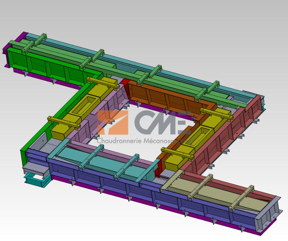 Moule element de facade en 3D
